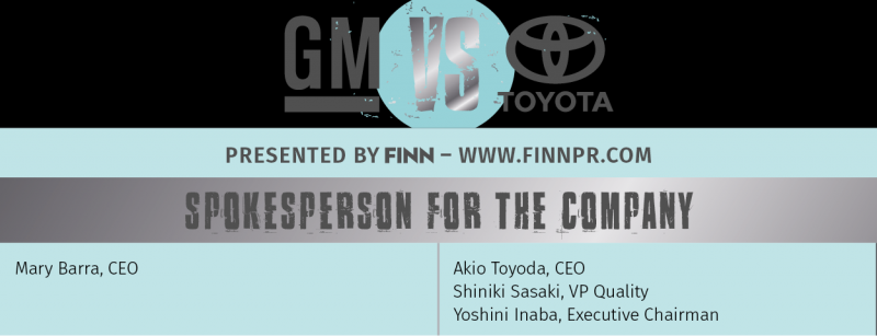 Toyota GM crisis communication